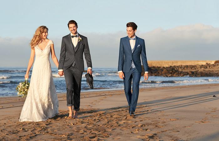 a vőlegény és a tanú esküvői ötlönyben